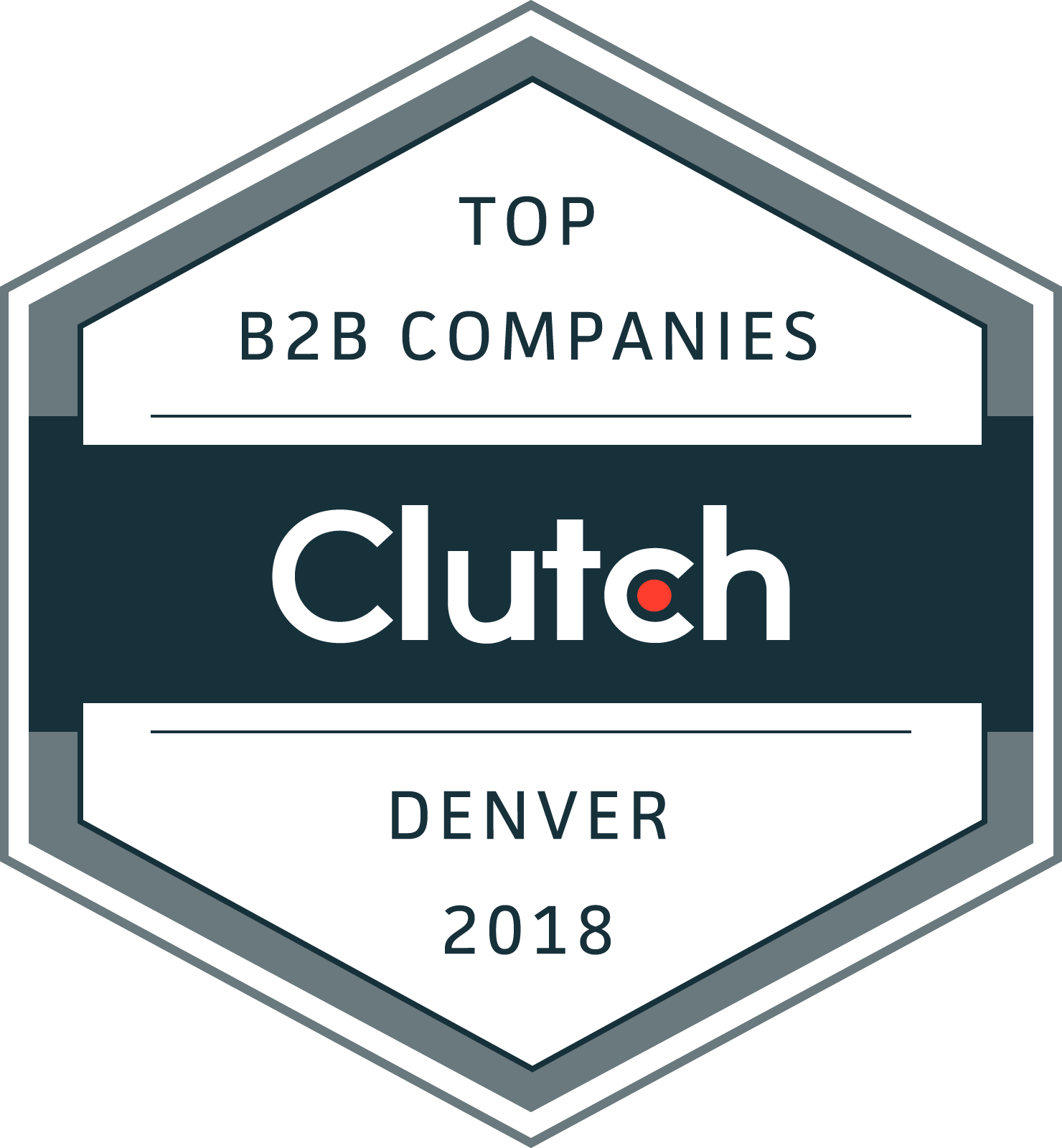 Clutch Top B2B Companies Denver 2018 Award