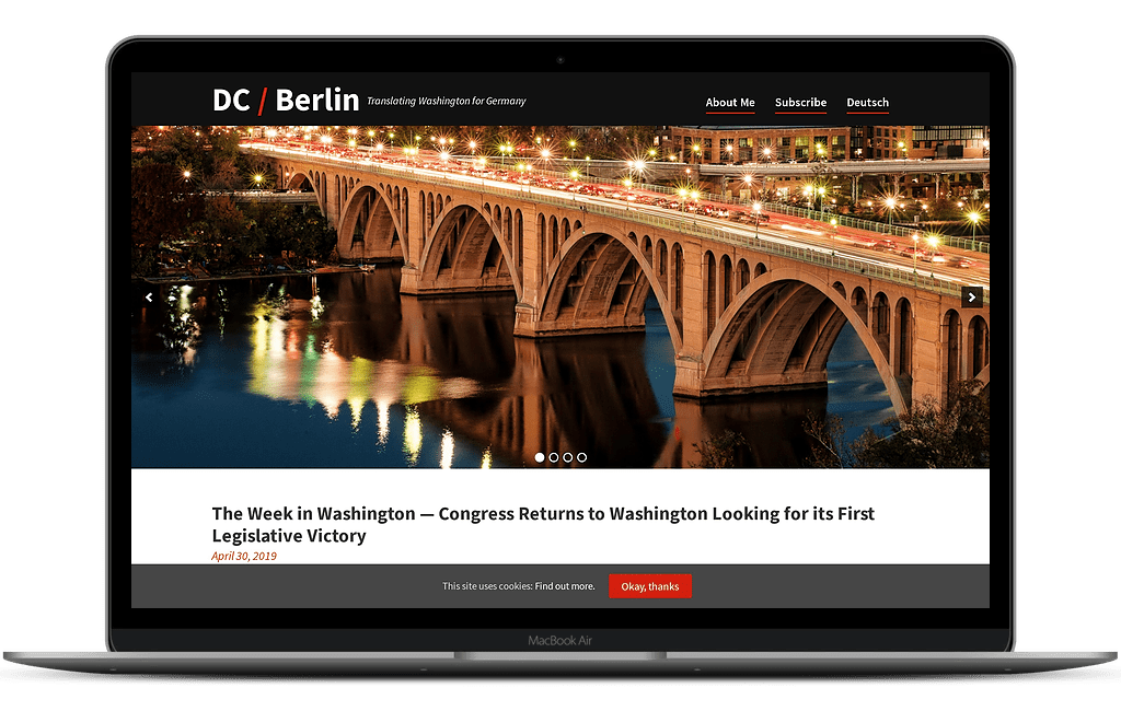 DC Berlin home page web design