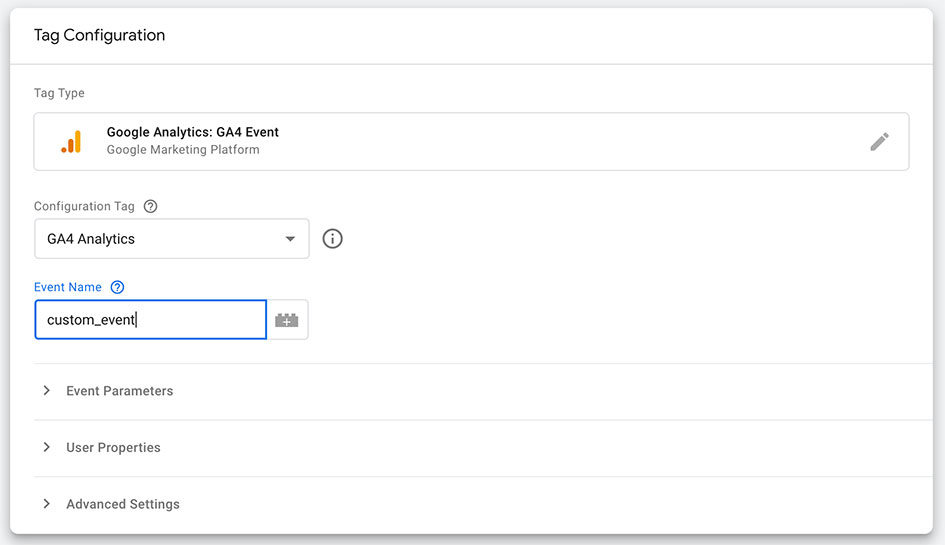 Google Analytics 4 custom event from the UI with Google Tag Manager