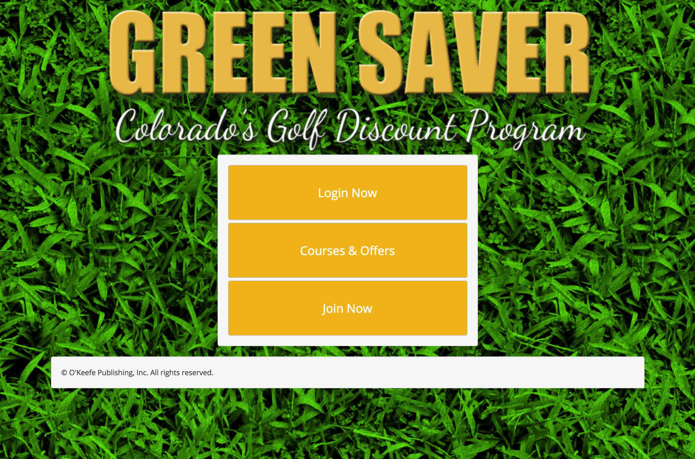 Green Saver Golf desktop screenshot