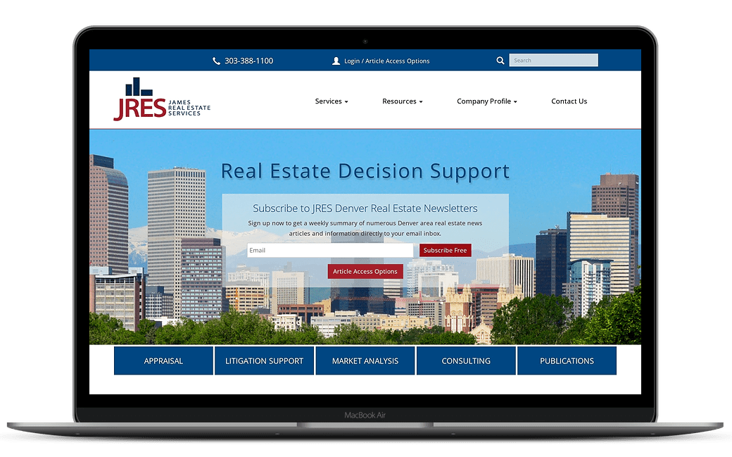 James Real Estate Services Home Page Design