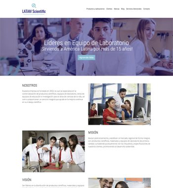 LATAM Scientific desktop website