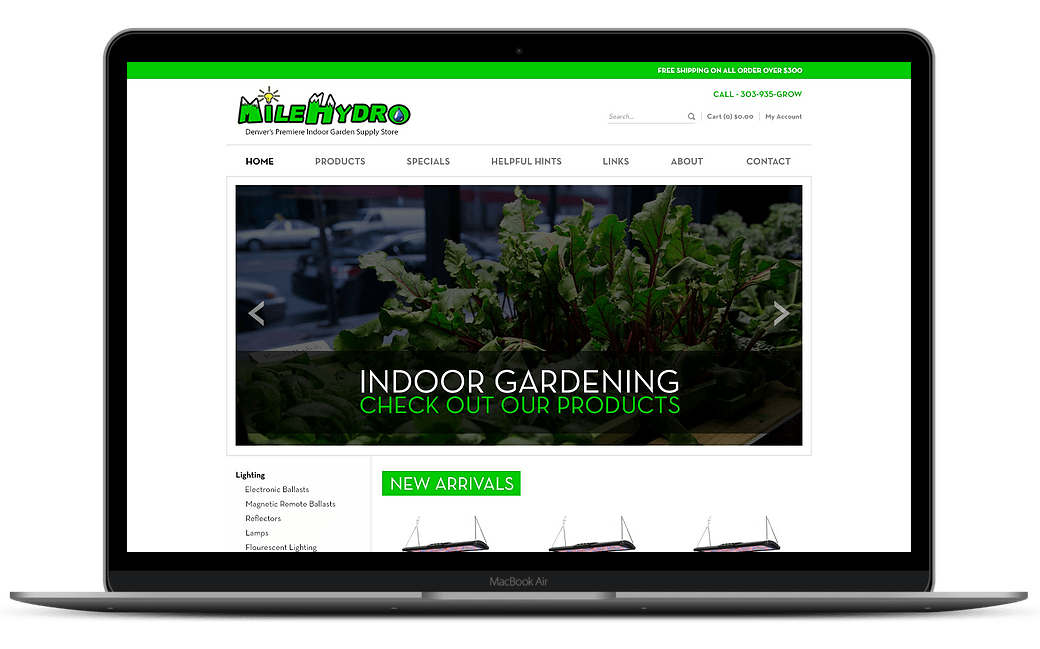 MileHydro Home Page Design