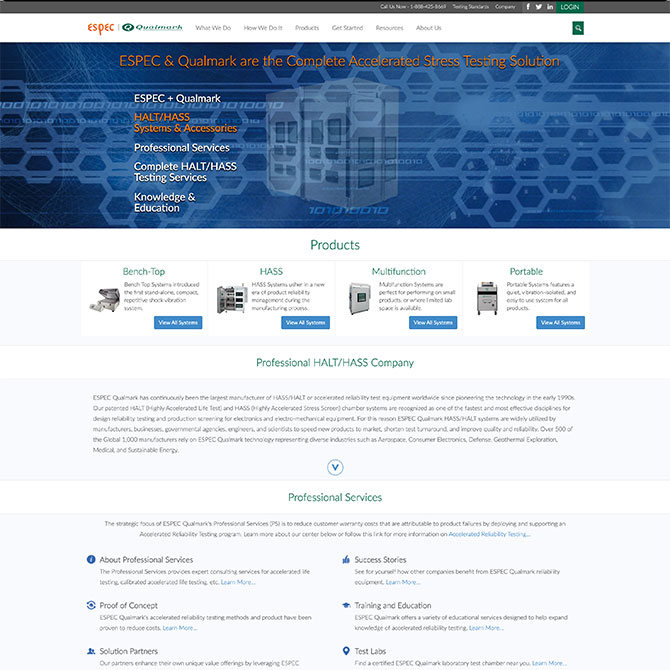 Qualmark Homepage Desktop