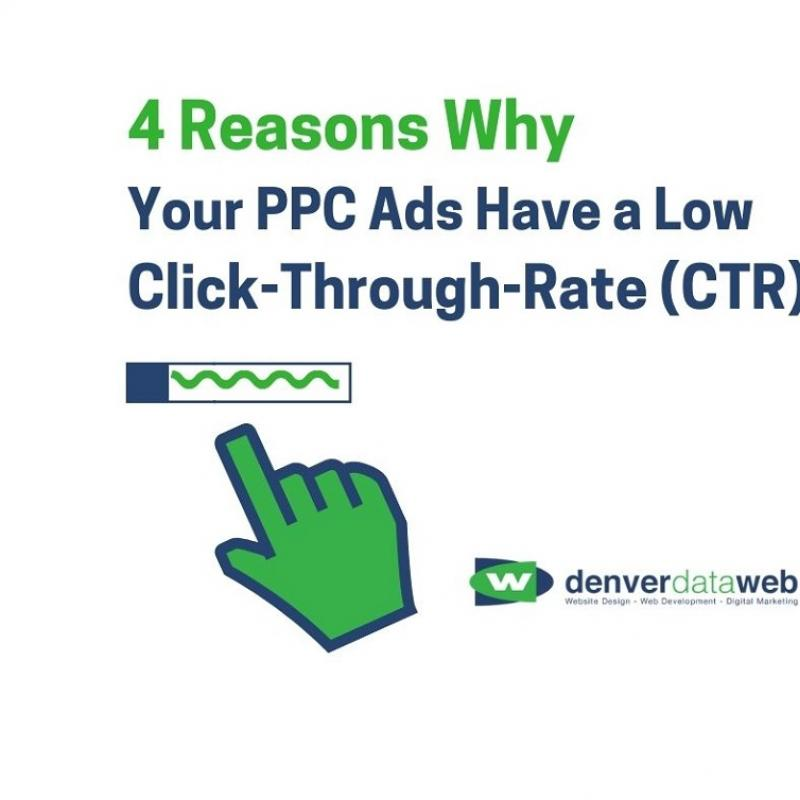 promo image with computer cursor for PPC ads blog with low CTR