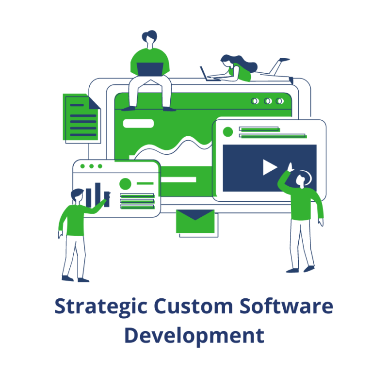 promo image with computer cursor for web software development