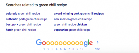 Green chile search results