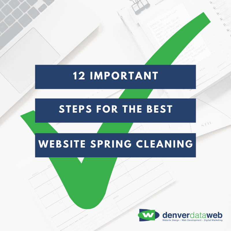 12 important steps for website spring cleaning