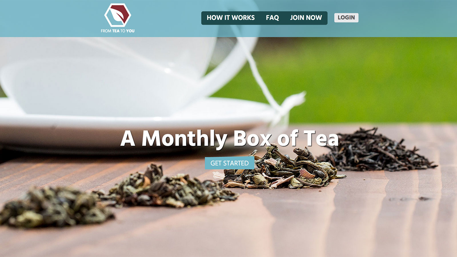 ecommerce web design and development desktop screenshot of FromTeaToYou